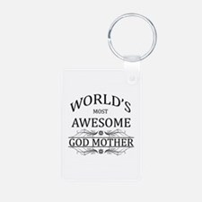 World's Most Awesome Godmother Keychains