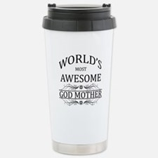 World's Most Awesome Godmother Stainless Steel Tra