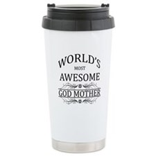 World's Most Awesome Godmother Travel Mug