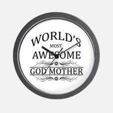 World's Most Awesome Godmother Wall Clock