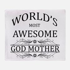 World's Most Awesome Godmother Throw Blanket