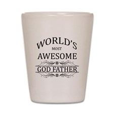 World's Most Awesome Godfather Shot Glass