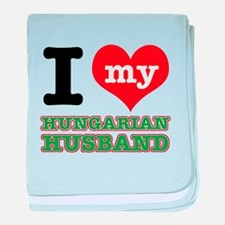 I love my Hungarian Husband baby blanket