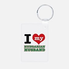 I love my Hungarian Husband Aluminum Photo Keychai