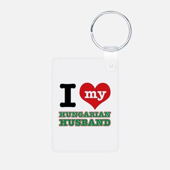 I love my Hungarian Husband Aluminum Photo Keychai