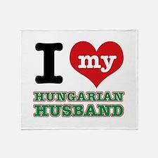 I love my Hungarian Husband Throw Blanket