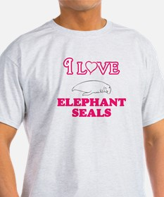 I Love Elephant Seals T-Shirt
