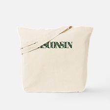 WISCONSIN IN MARIJUANA FONT Tote Bag