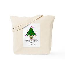 Cute Gay christmas tree Tote Bag