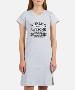 World's Most Awesome Daughter Women's Nightshirt