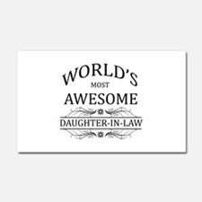 World's Most Awesome Daughter-in-Law Car Magnet 20