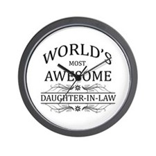World's Most Awesome Daughter-in-Law Wall Clock