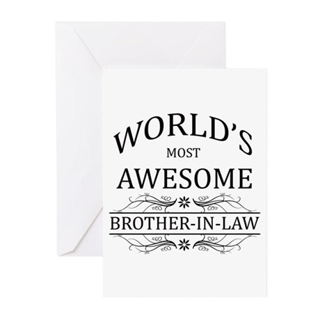 World's Most Awesome Brother-in-Law Greeting Cards