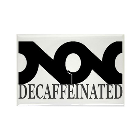 NON Decaf - solid black - Rectangle Magnet