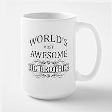 World's Most Awesome Big Brother Large Mug