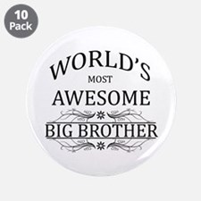 "World's Most Awesome Big Brother 3.5"" Button (10 p"
