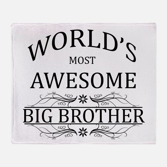 World's Most Awesome Big Brother Throw Blanket