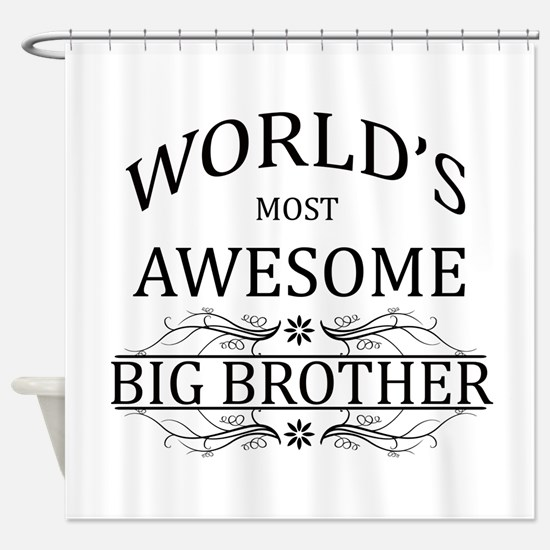 World's Most Awesome Big Brother Shower Curtain