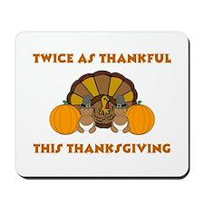 Twice Thankful African Americ Mousepad