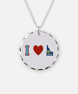 Peace Love Idaho Necklace