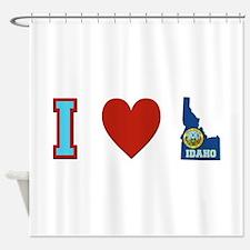 Peace Love Idaho Shower Curtain