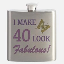 I Make 40 Look Fabulous! Flask