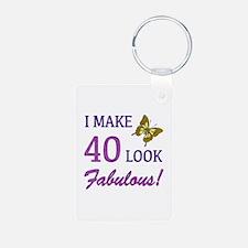 I Make 40 Look Fabulous! Keychains