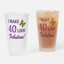 I Make 40 Look Fabulous! Drinking Glass
