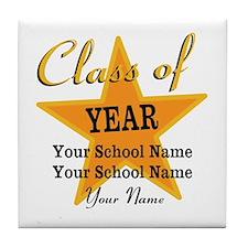 Custom Graduation Tile Coaster