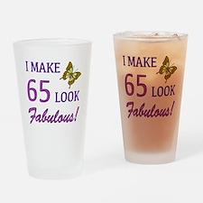 I Make 65 Look Fabulous! Drinking Glass