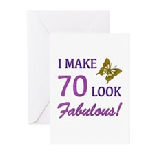 I Make 70 Look Fabulous! Greeting Cards (Pk of 10)