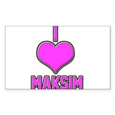 I Heart Maksim (pink) Decal