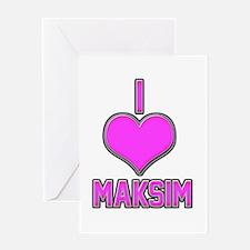 I Heart Maksim (pink) Greeting Card