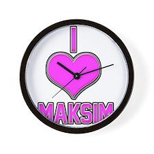I Heart Maksim (pink) Wall Clock