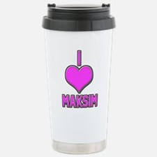 I Heart Maksim (pink) Travel Mug