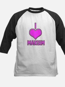 I Heart Maksim (pink) Baseball Jersey