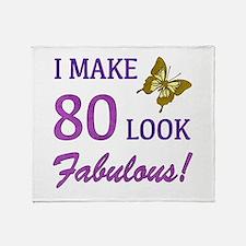 I Make 80 Look Fabulous! Throw Blanket