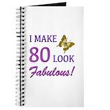 80th birthday Journals & Spiral Notebooks