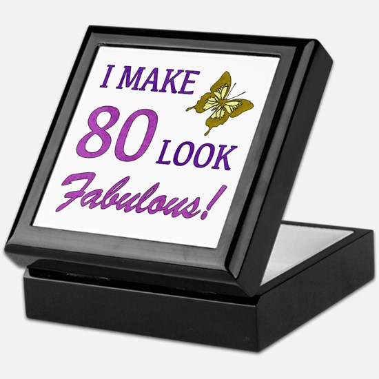 I Make 80 Look Fabulous! Keepsake Box