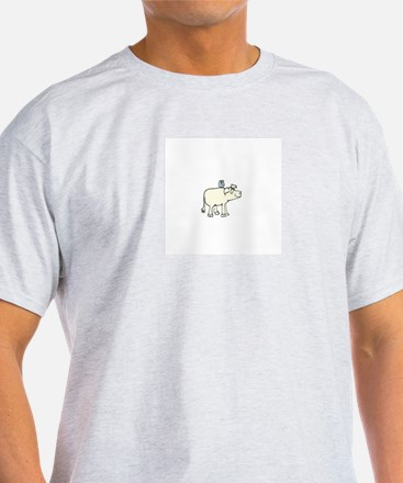 Bluebird and Pig T-Shirt