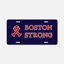 Boston Strong Ribbon Aluminum License Plate