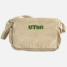 UTAH IN MARIJUANA FONT Messenger Bag