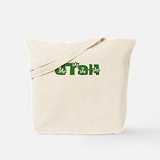 UTAH IN MARIJUANA FONT Tote Bag