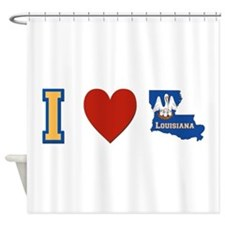 I Love Louisiana Shower Curtain