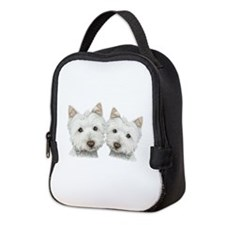 Two Cute West Highland White Dogs Neoprene Lunch B