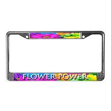Flower Power - License Plate Frame