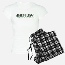 OREGON IN MARIJUANA FONT Pajamas