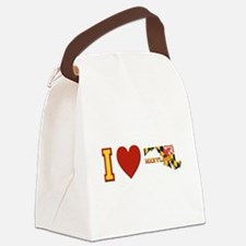 I Love Maryland Canvas Lunch Bag