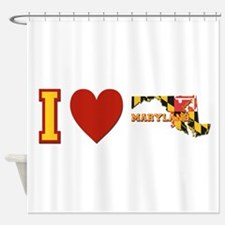 I Love Maryland Shower Curtain