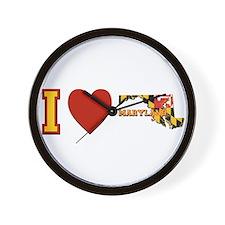 I Love Maryland Wall Clock